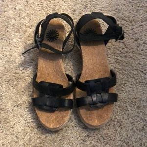 UGG 7.5 Cork Sandals